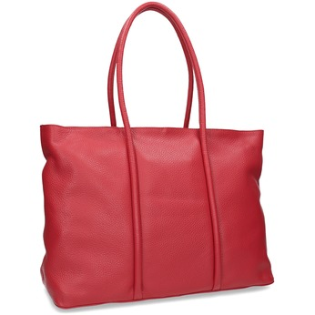 Červená kožená kabelka bata, červená, 964-5604 - 13