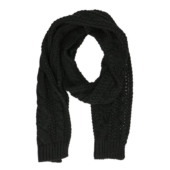 Pletený čierny šál bata, čierna, 909-6699 - 26
