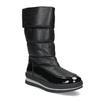 Dámske čierne zimné topánky s výraznou podrážkou bata, čierna, 599-6622 - 13
