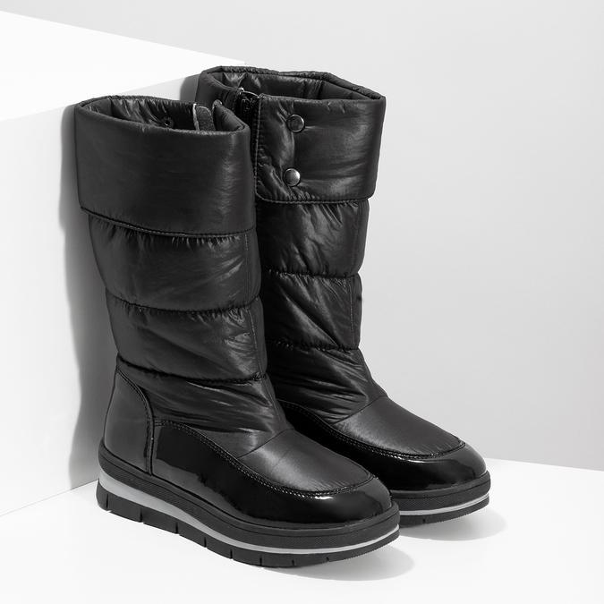 Dámske čierne zimné topánky s výraznou podrážkou bata, čierna, 599-6622 - 26