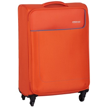 Oranžový textilný cestovný kufor american-tourister, oranžová, 969-8172 - 13