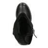 Kožené dámske čižmy s prackou bata, čierna, 594-6719 - 17