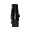 Dámska kožená členková obuv s vysokým šnurovaním hogl, čierna, 524-6064 - 15