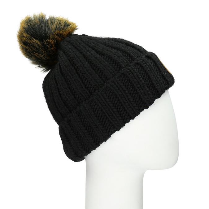 Čierna dámska čapica s bambuľkou weinbrenner, čierna, 909-6726 - 13