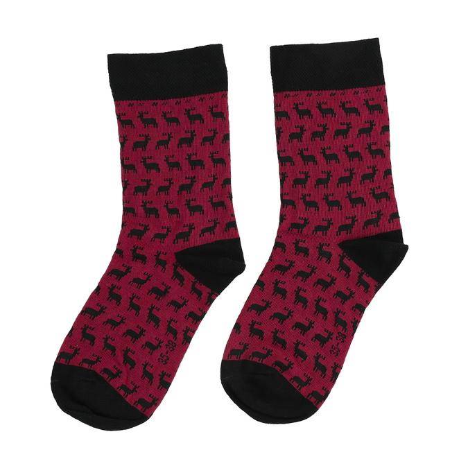 Unisex ponožky s vianočným motívom bata, červená, 919-5775 - 26