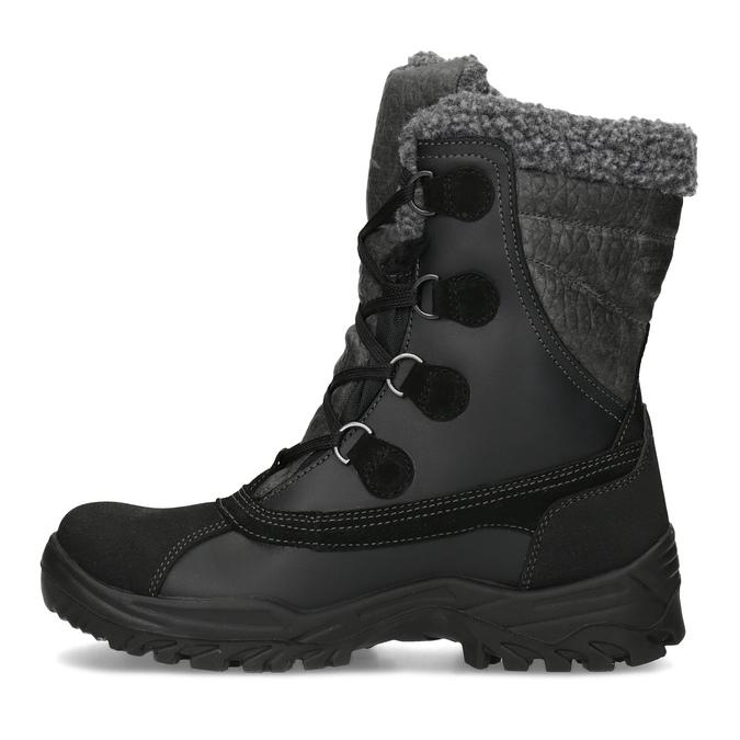 Pánske zimné snehule so zateplením weinbrenner, čierna, 896-6730 - 17
