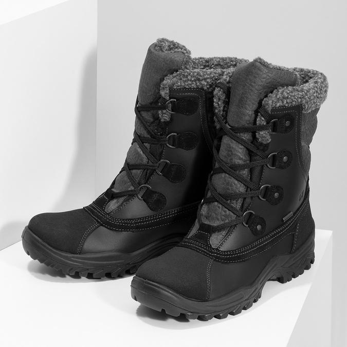 Pánske zimné snehule so zateplením weinbrenner, čierna, 896-6730 - 16