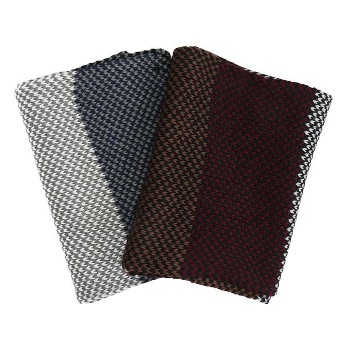 Pánsky pletený pruhovaný šál bata, viacfarebné, 909-0692 - 13