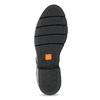 Kožené dámske mokasíny s cvočkami flexible, čierna, 514-6147 - 18