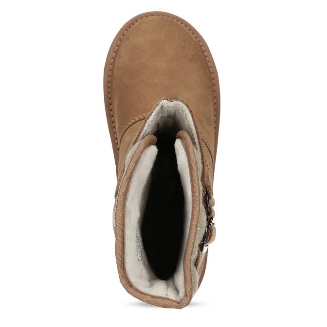 Hnedé dámske kožené topánky sorel, hnedá, 693-3080 - 17