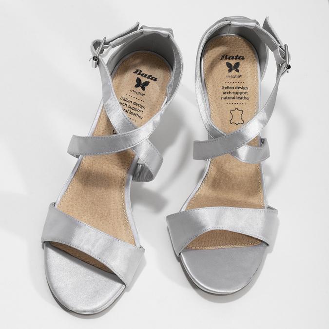 Strieborné sandále na ihličkovom podpätku insolia, strieborná, 729-1633 - 16