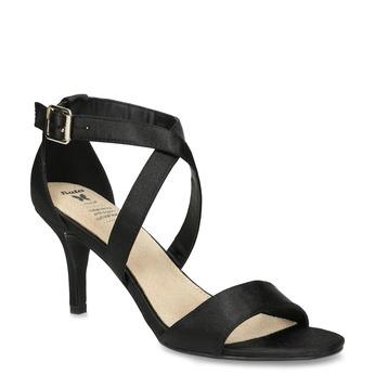 Čierne sandále na ihličkovom podpätku insolia, čierna, 729-6633 - 13