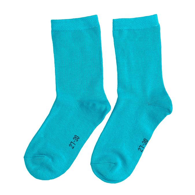 Detské modré vysoké ponožky s bodkami bata, modrá, 919-9686 - 16