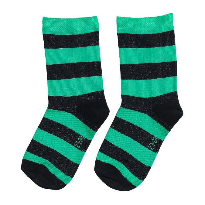 Detské vysoké zelené ponožky bata, zelená, 919-7686 - 16