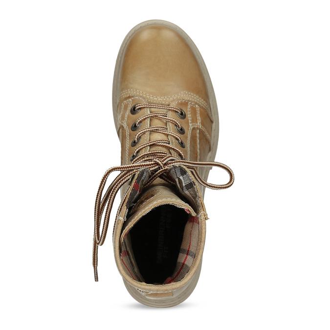 Svetlohnedá dámska kožená obuv weinbrenner, hnedá, 596-3758 - 17