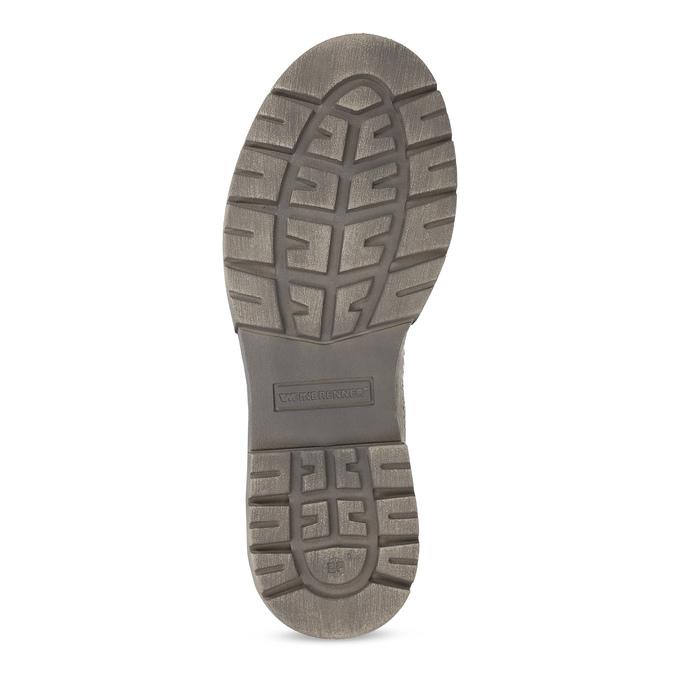 Béžová kožená dámska obuv vysoká weinbrenner, béžová, 596-8746 - 18