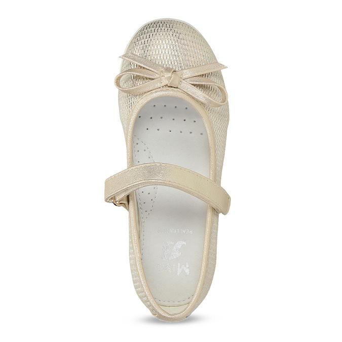 Zlaté detské baleríny s mašličkou mini-b, zlatá, 221-8125 - 17