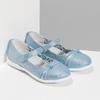 Modré detské baleríny s ozdobnými remienkami mini-b, modrá, 321-9640 - 26