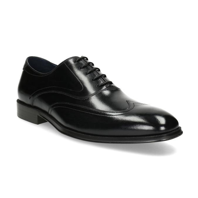 Pánske čierne kožené Oxford poltopánky bata, čierna, 824-6878 - 13