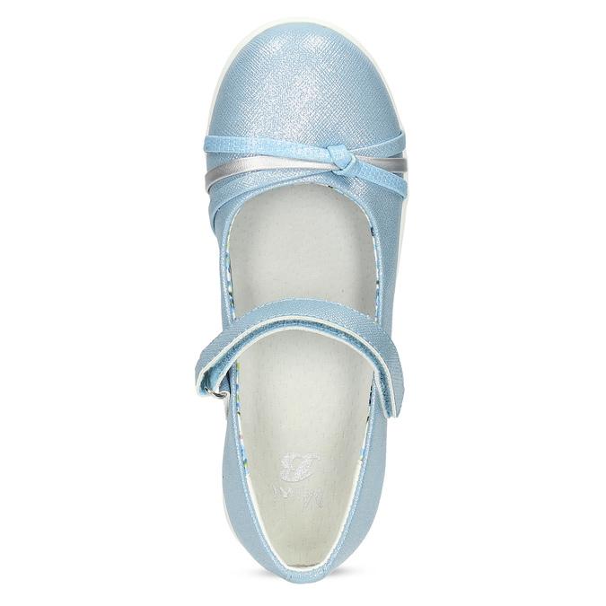 Modré detské baleríny s ozdobnými remienkami mini-b, modrá, 321-9640 - 17