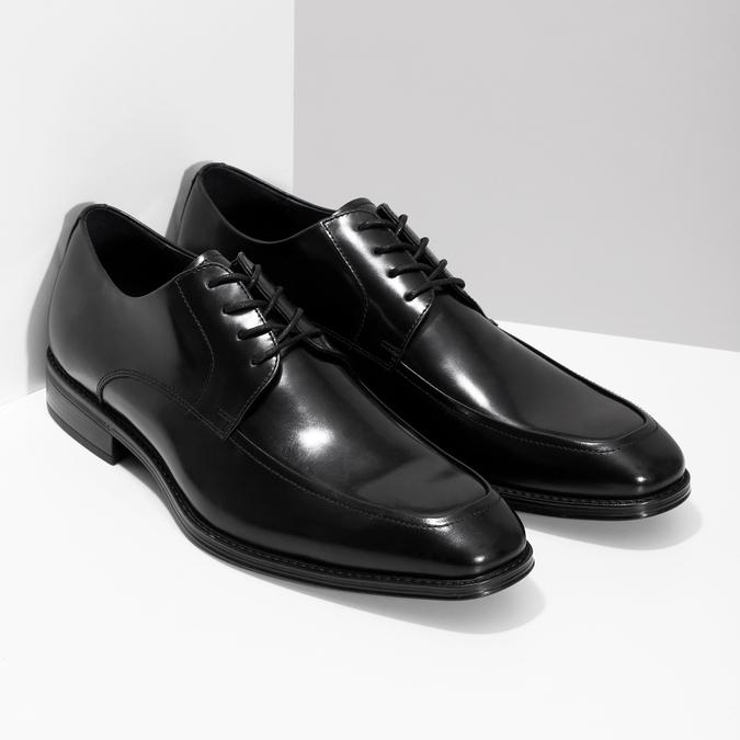 Kožené čierne derby poltopánky bata, čierna, 824-6837 - 26