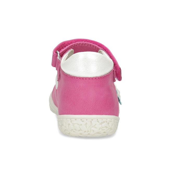 Ružové detské baleríny s kvietkami bubblegummers, ružová, 121-5639 - 15