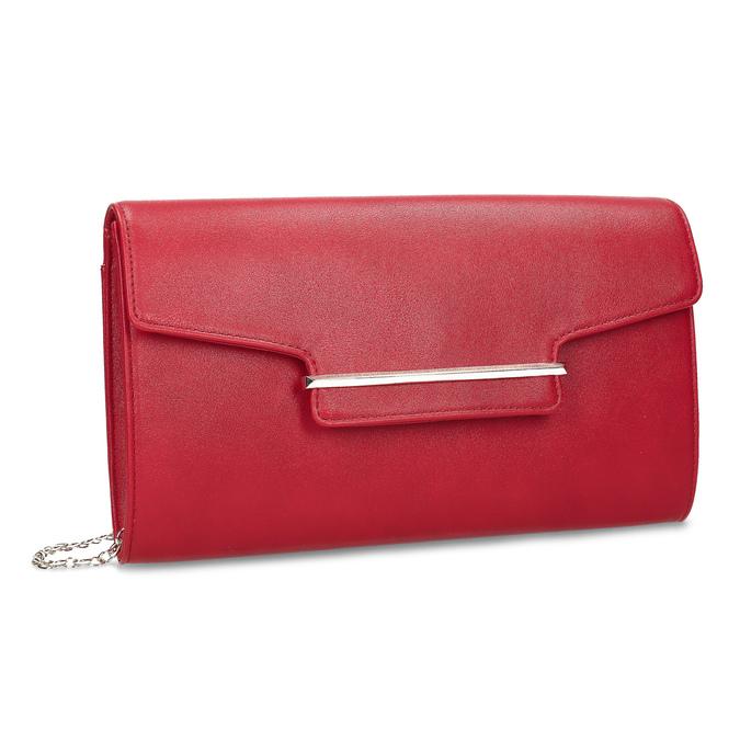 Dámska červená listová kabelka bata-red-label, červená, 961-5943 - 13