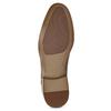 Hnedé kožené Oxford poltopánky s perforáciou bata, hnedá, 826-3834 - 18