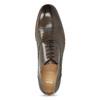 Kožené hnedé Oxford poltopánky s perforáciou bata, hnedá, 826-2834 - 17
