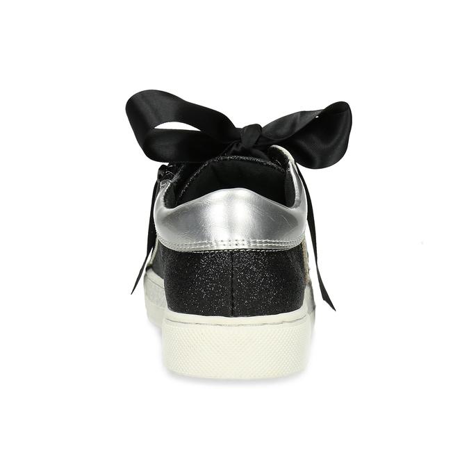 Detské tenisky so striebornými detailami mini-b, čierna, 321-6372 - 15