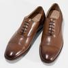 Hnedé kožené Oxford poltopánky s perforáciou bata, hnedá, 826-3834 - 16