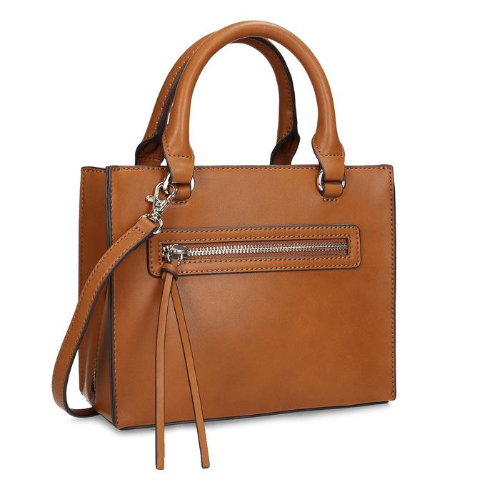 Dámska kabelka so zipsami hnedá bata-red-label, hnedá, 961-3956 - 13