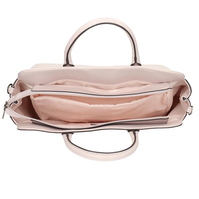 Béžová dámska kabelka s prešitím bata-red-label, ružová, 961-5950 - 15
