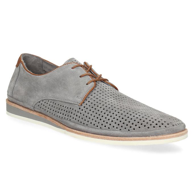 55afe44b569c Baťa Pánske poltopánky z šedej brúsenej kože - Všetky topánky