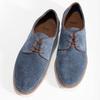 Modré pánske poltopánky z brúsenej kože bata, modrá, 823-9652 - 16