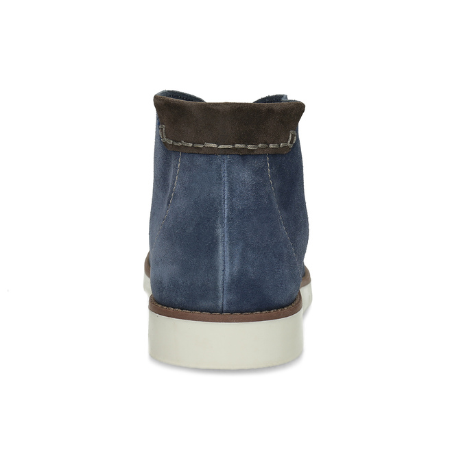 Tmavomodrá pánska kožená Desert Boots obuv flexible, modrá, 823-9636 - 15