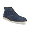 Tmavomodrá pánska kožená Desert Boots obuv flexible, modrá, 823-9636 - 13