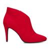 Červené dámske členkové čižmy na podpätku bata-red-label, červená, 799-5646 - 19