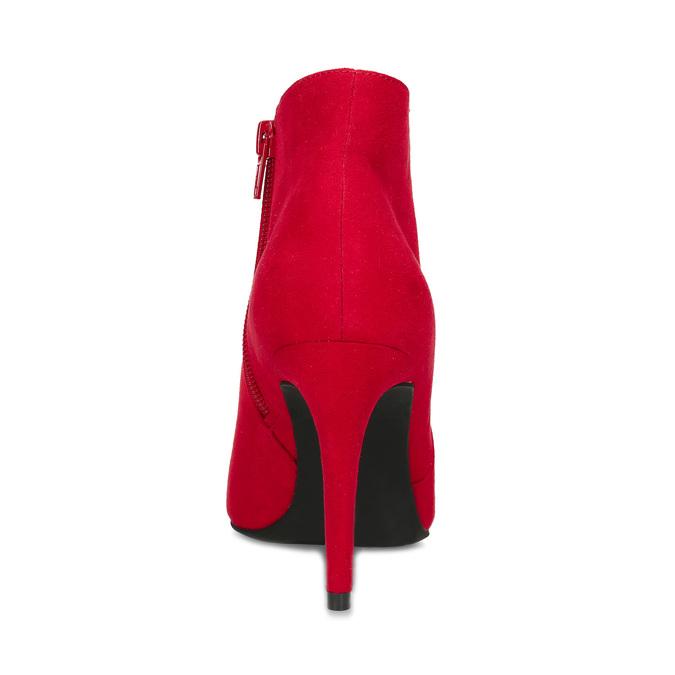 Červené dámske členkové čižmy na podpätku bata-red-label, červená, 799-5646 - 15