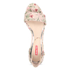 Ružové sandále na podpätku s kvetinovým vzorom bata-red-label, ružová, 661-5615 - 17