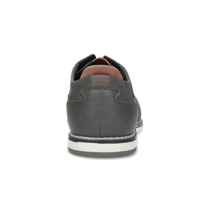Pánske ležérne šedé Derby poltopánky bata-red-label, šedá, 821-2608 - 15