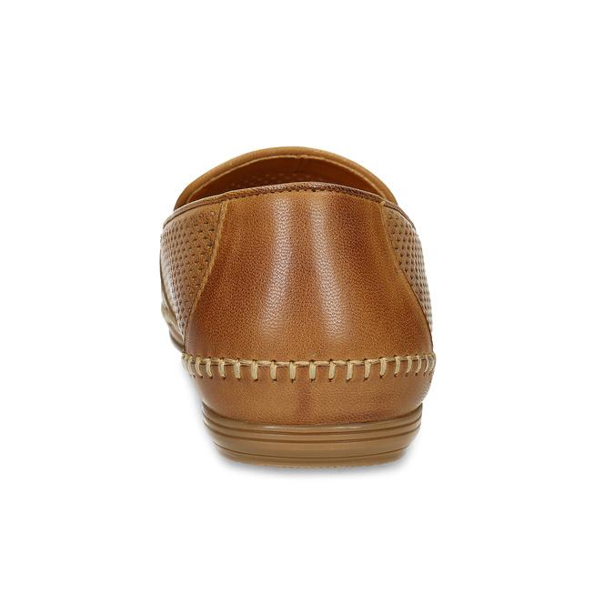 Kožené hnedé pánske Loafers bata, hnedá, 836-3627 - 15