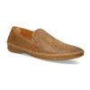 Kožené hnedé pánske Loafers bata, hnedá, 836-3627 - 13