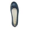 Tmavomodré kožené baleríny s perforáciou flexible, modrá, 524-9607 - 17