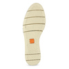 Béžové dámske kožené baleríny s perforáciou flexible, béžová, 524-8607 - 18