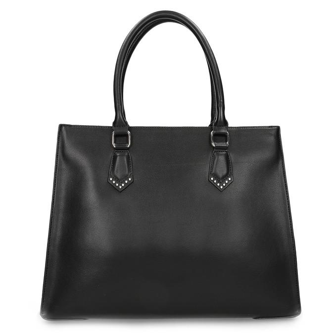 Čierna kabelka s kovovými cvočkami bata, čierna, 961-6962 - 26