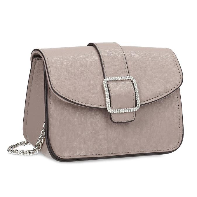Béžová Crossbody kabelka s ozdobnou sponou bata, béžová, 961-5955 - 13