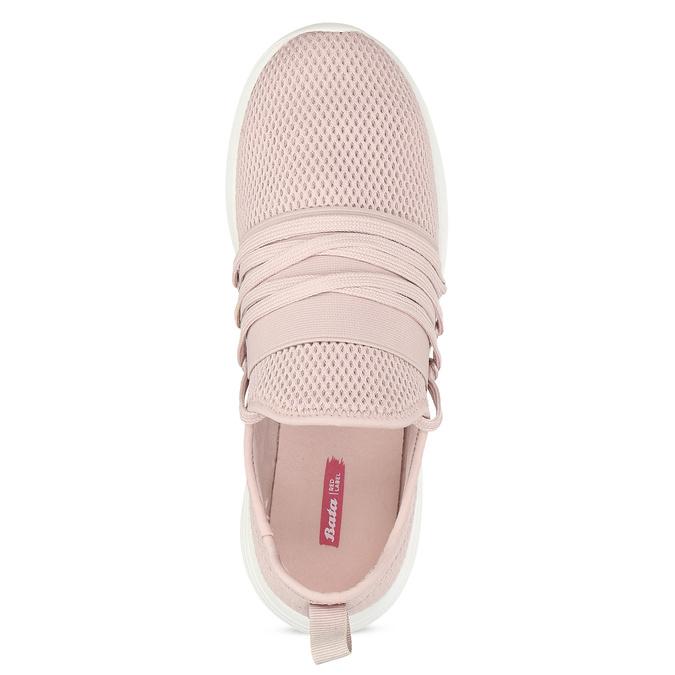 Ružové dámske tenisky na bielej podrážke bata-red-label, ružová, 519-5607 - 17