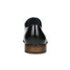 Čierne kožené Derby poltopánky s perforáciou bata, čierna, 824-6833 - 15