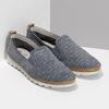 Dámska kožená Slip-on obuv s perforáciou comfit, modrá, 516-9614 - 26